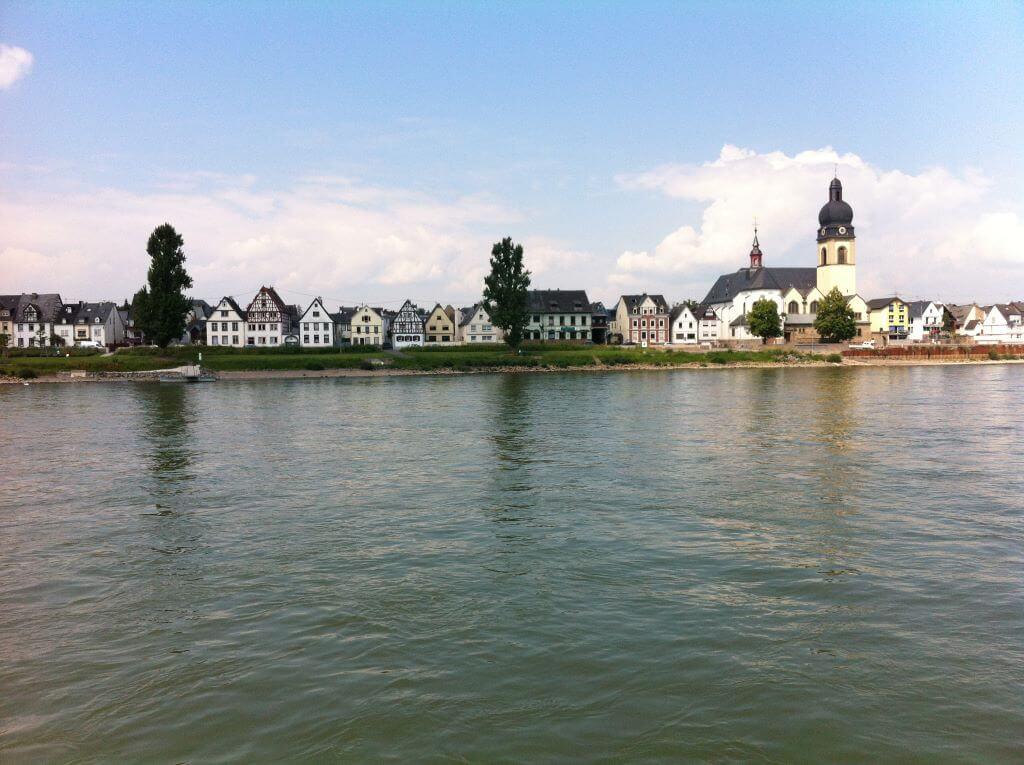 Ferienhaus Rheinblick-Koblenz Blick Rhein